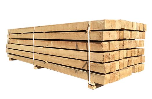 ( L 300 cm / 100 x 100 ) Egetræsstolper