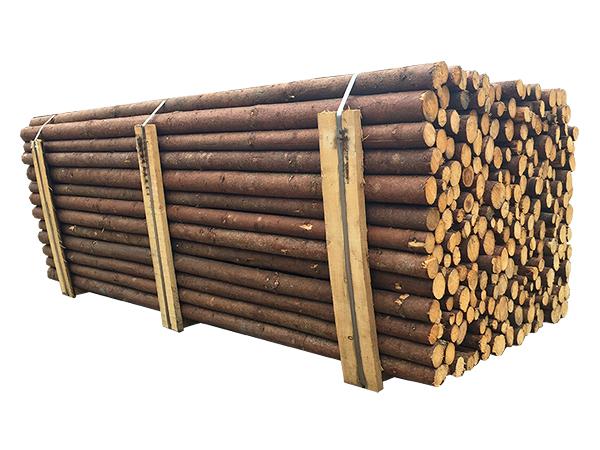 ( L 220 cm / Ø 4-7 cm ) Rafter med bark, Gran, Klasse A