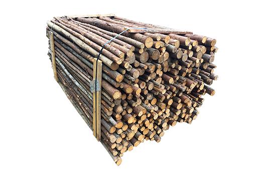 ( L 220 cm / Ø 4-9 cm ) Rafter med bark, Gran Anden Sortering