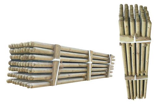 ( L 220 cm / Ø 6 cm ) Trykimprægnerede rafter